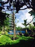 Hotel e cielo Immagine Stock
