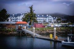 Hotel e stazione termale di sogno di Oceano di vacanza Immagini Stock Libere da Diritti
