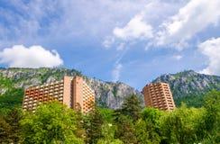 Hotel, edificio, Herculane - Rumania Fotografía de archivo libre de regalías