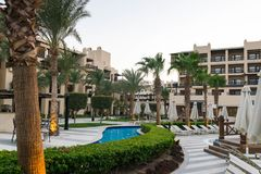Hotel egiziano Steigenberger Aqua Magic fotografia stock