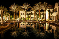 Hotel in Egypt at night. Stock Images