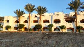 Hotel in Egypte Royalty-vrije Stock Afbeeldingen