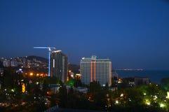 Hotel in einer Stadt Lizenzfreies Stockbild