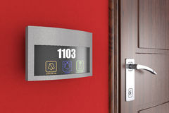 Hotel Electronic Doorplate Touch Doorbell Switch with Room Numbe Royalty Free Stock Photography