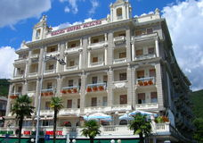 Hotel em Opatija, Croácia Foto de Stock