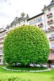 Hotel em Stresa no lago Maggiore, Itália imagem de stock royalty free
