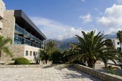 Hotel en Budva imagen de archivo libre de regalías