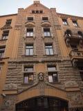 Hotel en el centro histórico de Riga (Letonia) Imagen de archivo libre de regalías
