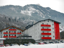Hotel en el malo Hofgastein de la estación de esquí de las montañas Fotografía de archivo libre de regalías