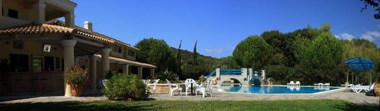 Hotel en Grecia Fotos de archivo libres de regalías