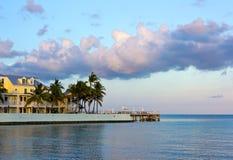 Hotel en Key West en la puesta del sol Fotos de archivo libres de regalías