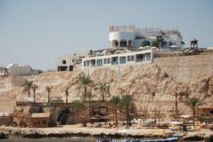 Hotel en la costa del Mar Rojo Fotos de archivo