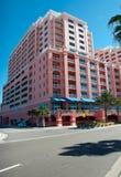 Hotel en la playa de Clearwater imagen de archivo