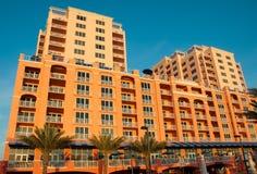 Hotel en la playa la Florida de Clearwater imagen de archivo libre de regalías
