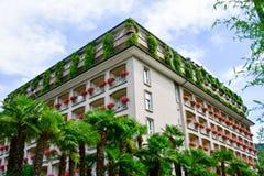 Hotel en Stresa en el lago Maggiore, Italia fotos de archivo libres de regalías