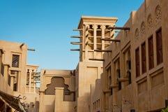 Hotel en toeristendistrict van Madinat Jumeirah Royalty-vrije Stock Afbeeldingen