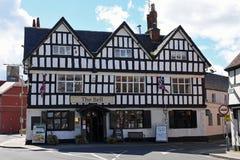 Hotel enmarcado madera vieja, Tewkesbury, Gloucestershire, Reino Unido Imagenes de archivo