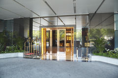 Hotel entrance. Hotel entrance with empty space Stock Image