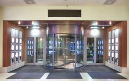 Hotel entrance. Entrance to hotel lobby with revolving door Stock Image