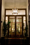 Hotel entrance by night Stock Photography