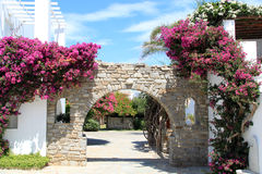 Hotel Entrance at Paros Greece Stock Photo