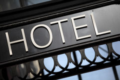 Hotel entrance sign London Royalty Free Stock Photography