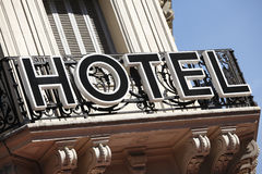 Hotel sign Paris France Royalty Free Stock Photography