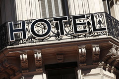 Hotel sign Paris France Royalty Free Stock Images