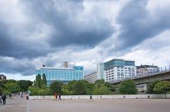 Hotel Estocolmo de Clarion vista de la parte posterior fotografía de archivo libre de regalías