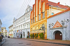 Hotel Europa Royale in the Old Town of Vilnius in Lithuania Royalty Free Stock Image
