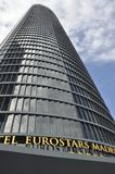 Hotel Eurostars Madrid. Eurostars Madrid Tower occupies the first 31 floors of the imposing Tower PwC Royalty Free Stock Photos