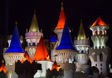 Hotel Excalibur on the Las Vegas strip Royalty Free Stock Images