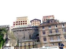 Hotel excelsior Vittoria Sorrento vom Hafen stockbild