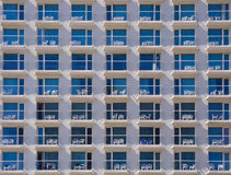 Hotel Exterior. Facade of modern hotel with balconies Stock Image