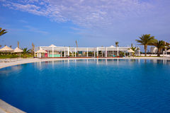 Hotel Exterior Pool, Luxury Holidays, Scenic Destinations Stock Photography