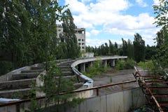 Hotel, Extreem Toerisme in Tchernobyl Stock Afbeelding