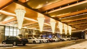 Hotel führte Deckenbeleuchtung lizenzfreies stockbild