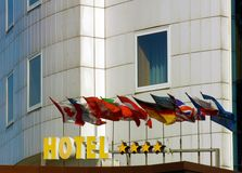 Hotel facade Royalty Free Stock Photos