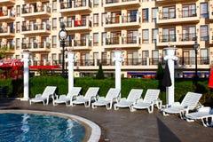 Hotel facade balconies in Golden Beach Stock Photography