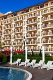 Hotel facade balconies in Golden Beach Royalty Free Stock Photography