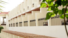 Hotel facade in Egypt with trees.  stock video footage