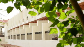 Hotel facade in Egypt with trees.  stock footage