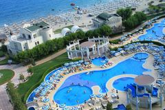 Hotel facilities in Pomorie, Bulgaria Royalty Free Stock Image