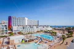 Hotel famoso di Ibiza del hard rock, migliore posto per la vacanza di lusso sull'isola di Ibiza fotografia stock