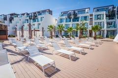 Hotel famoso di Ibiza del hard rock, migliore posto per la vacanza di lusso sull'isola di Ibiza fotografie stock