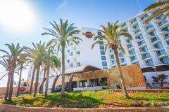 Hotel famoso di Ibiza del hard rock, migliore posto per la vacanza di lusso sull'isola di Ibiza fotografia stock libera da diritti