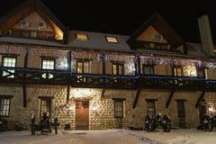 Hotel festivamente adornado Foto de archivo