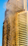 A hotel on fire on January 1st, 2016 Stock Images
