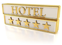 Hotel - Five gold stars Royalty Free Stock Image