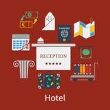 Hotel flat design Royalty Free Stock Photography